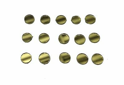 100pc Round Circle Golden Craft Glass Mirror Mosaic Tile Decor Art 8 mm Dresses
