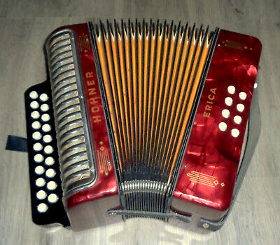 Fair Sale !! Made In Germany Hohner Erica G/c Diatonic Button Accordion