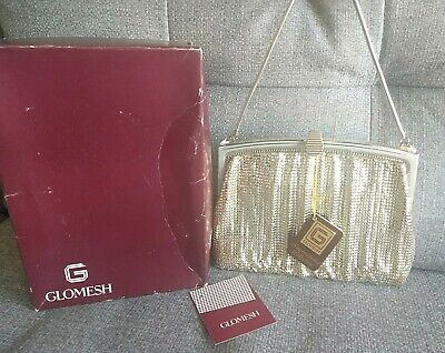 Vintage Silver Genuine Glomesh Handbag In Original Box