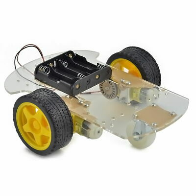 Smart Remote Control Motor Robot Car Chassis Kit Speed Encoder Battery Box
