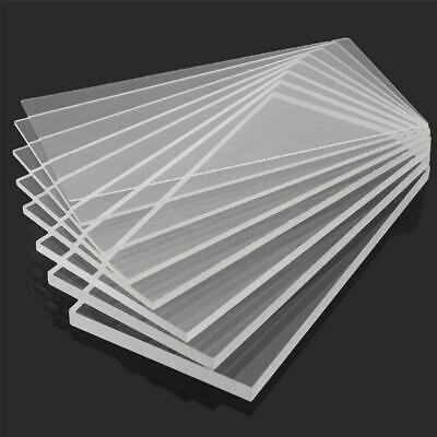 Clear Acrylic Square plate Sheet Plastic Panel Cut Multi Various 2mm-10mm Thick