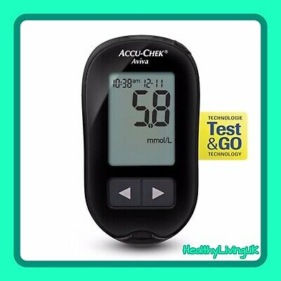 Accu-Chek Aviva Blood Glucose Meter Monitor - Diabetic - Single Unit Meter Only