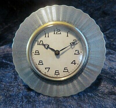 Art Deco F H Adams Solid Silver Clock Birmingham 1924 silver 25th wedding gift