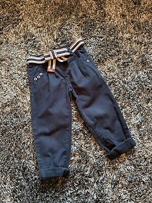 Jasper Conran Navy Belter Trousers - Tapered - 4 Years