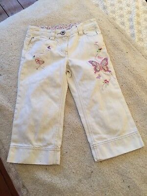 Next Girls White Embellished Adjustable Cropped Jeans Next  8 Years