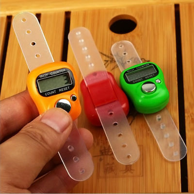 Hand Ring Electronic LCD Digital Golf Finger Knitting Row Tally Counter YNT6
