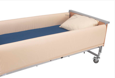THORPE MILL CSBPBX FULL LENGTH HOSPITAL BED 3 SIDE RAIL BUMPERS 200 x 105cm