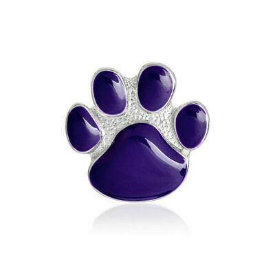 Purple paw pin brooch  (purple for remembering the animals of war )