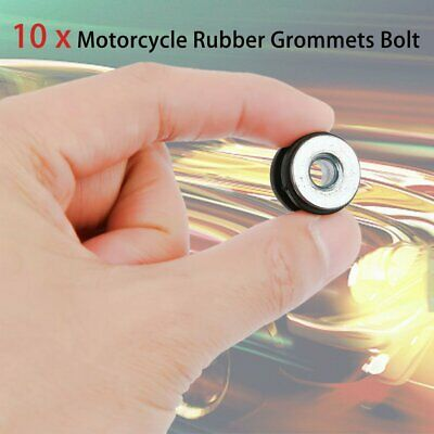 10X Motorcycle Fairings Cowling Pieces Rubber Grommets Bolts For Honda Yamaha FA
