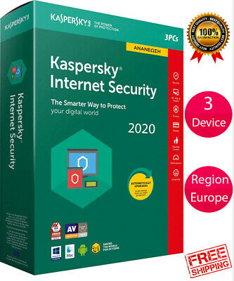 Kaspersky INTERNET Security 2019 3 Device/ For- EUROPE /1 Year / PC-Mac-Android