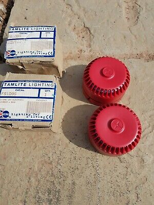 2 x 24 v Fire alarm sounders with shallow bases