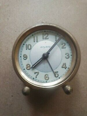 Bayard Tapageur Alarm Clock Vintage Antique French Brass colour Metal Bell Alarm