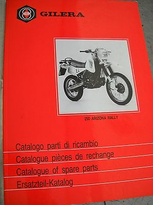 404369 Catalogo Parti Di Ricambio Gilera 250 Arizona Rally  1986