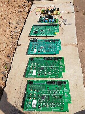 Job lot of 4 x CTec fire alarm panel replacement PCBs all working.