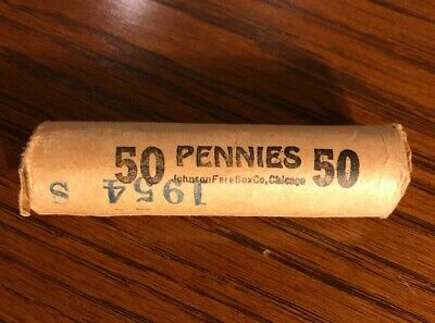 1954S One Roll Bu Lincoln Wheat Pennies