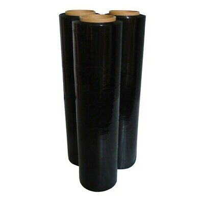 New Quality Pallet Stretch Shrink Wrap Cling Film Normal Core Black 36 Rolls