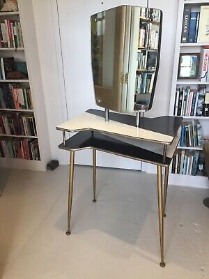 Vintage 1950s dressing table with mirror