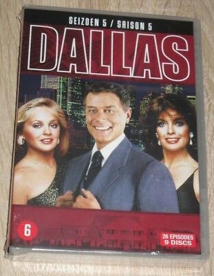 "New Coffret Box Set DVD 9 Discs ""'DALLAS"" saison 5 - 2013 [NEUF SOUS CELLO!!!]"