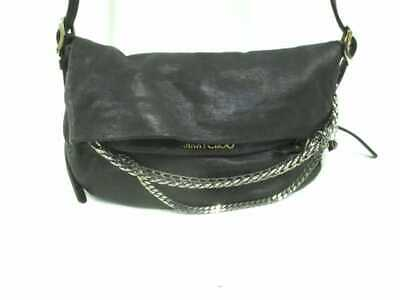 d22abcac7d AUTH JIMMY CHOO Biker Black Leather Shoulder Bag - $340.00 | PicClick
