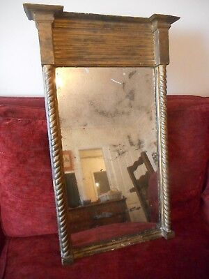 Antique Original 19th Century Regency Pier Mirror c1830 English