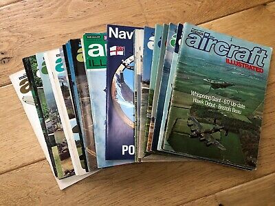 Aircraft Illustrated Magazine copies from 1972-1977