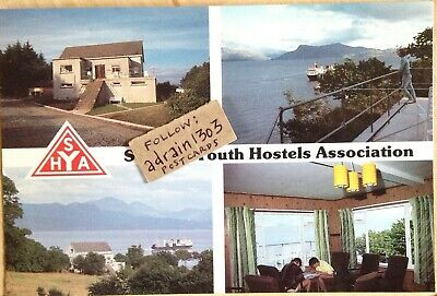 SKYE ARMADALE YHA YOUTH HOSTEL 1980s 1990s Postcard MULTIVIEW INTERIOR