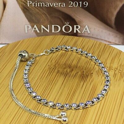 Sterling Silver Pulsera HILO LUMINOSO ALE S925 Genuine Pandora bag
