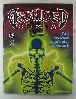 GRATEFUL DEAD COMIX #05 1992 Kitchen Sink Comics Jerry Garcia Dennis McNally