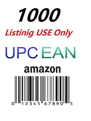 1000 UPC EAN Code Numbers Barcodes Bar Code for Amazon GS1 ECommerce AU US EU