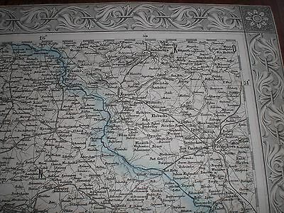 * Polen . Schlesien . Tschechien . Old  Map . Poland . Czech Republic .  Silesia