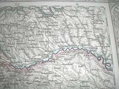 *  Ukraine  .    Rumänien .   Old  ,  Antique  Map .  Romania  .  Antike  Karte
