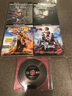 Glass Bumblebee The Kid Who Would Be King Halloween Queen 4K Blu Ray Movie Lot