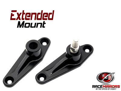 Motor Racing Mirrors - EXTENDED CLUB MOUNT - 6061 Aluminum - Polished & Anodized