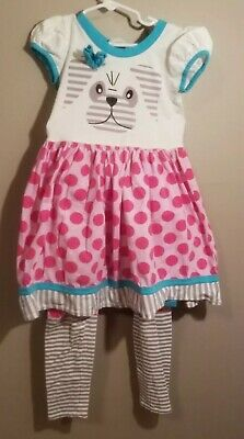 ea597fa5480fe JELLY THE PUG Girl's Red 2pc Outfit Size 6X - $7.99 | PicClick