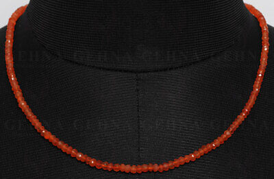 Carnelian Gemstone Faceted Bead Necklace NS1453
