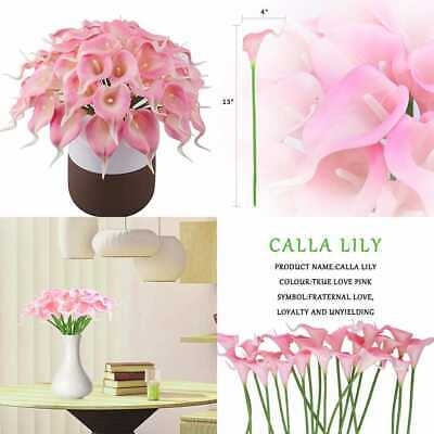 Calla Lily Real Touch Bridal Wedding Bouquet Lataexs For Bride Artificial Flower