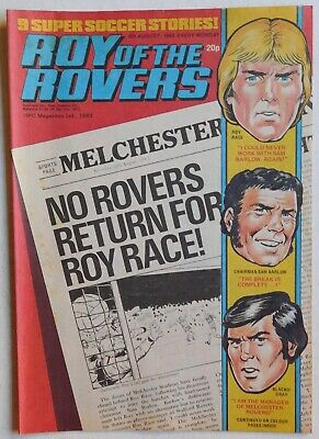 ROY OF THE ROVERS Comic - 6th August 1983
