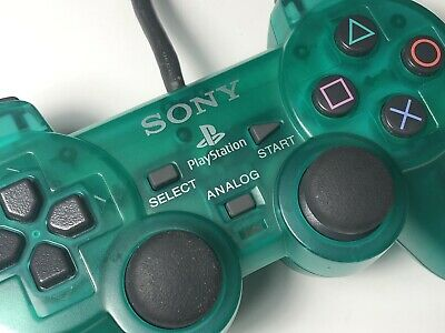 Official Sony PlayStation DualShock Controller - Clear Green - PS1 / PS2