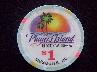 "$1 Casino Chip -- Players Island Resort -- Mesquite, Nevada -- ""Collectible"""