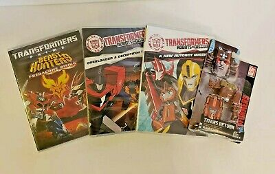 3 Transformers Robots in Disguise Animated DVD's & Toy RAMHORN BRAND NEW