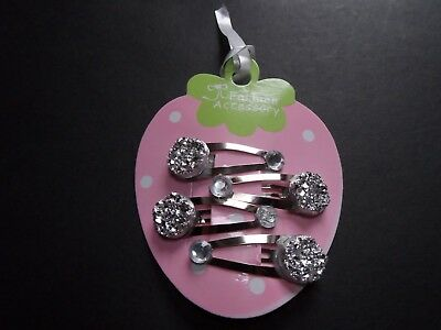 girls/baby small hair clips hair slides snap clip barrette crown sparkle glitter