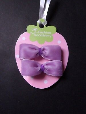 girls/ baby mini hair clips, hair clips hair slides snap clips velvet bows set 2