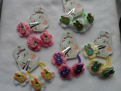 girls hairbands bobbles ponio hair clips slides,bendie bows flowers easter bunny