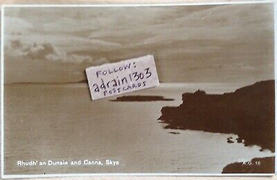 SKYE RHUDH' AN DUNAIN (Castle Point) AND CANNA c1920s RPPC Valentines AG16