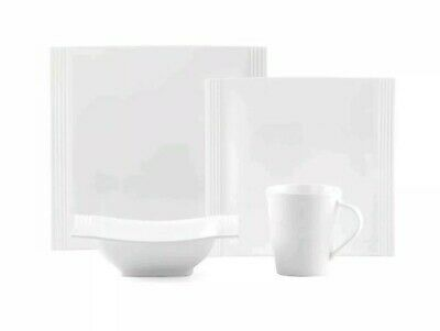 Lenox Tin Can Alley Square 4-Piece Place Setting White 4-Piece Placesetting