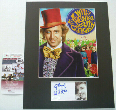 Gene Wilder Signed Matted Photo Display Autographed, Willy Wonka, JSA COA