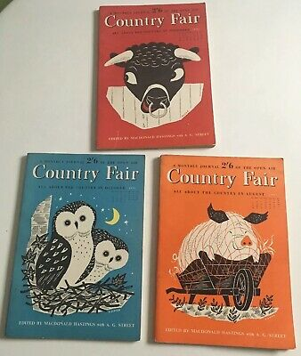 Vintage Country Fair Magazines 1951 - August - Oct - Nov. X3