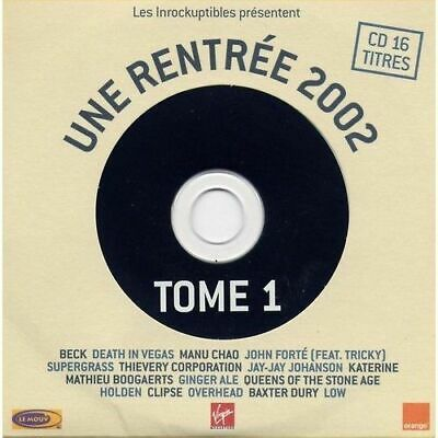 Les Inrockuptibles Une Rentree 2002 Tome1 - Cd Single Promo Cardsleeve 16T Rare