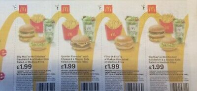 28 Mcdonalds Vouchers Valid Until 7/5/2019