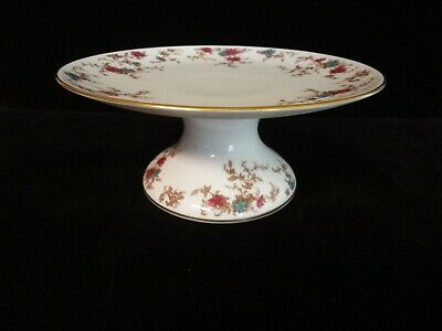 """Minton Ancestrial S376  Wreath Back Stamp  9"""" Cake Plate Stand"""